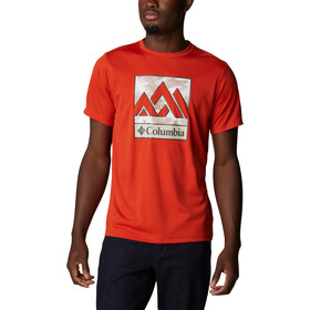 Columbia Zero Rules Graphic Short Sleeve Shirt Men bonfire